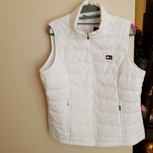 Tommy Hilfiger puffed white Vest sz XL
